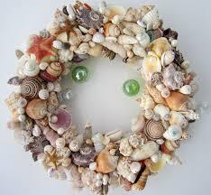 seashell wreath decor seashell wreath nautical decor shell wreath