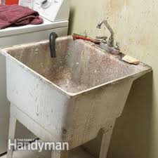 how to install a laundry sink old laundry sink befon for