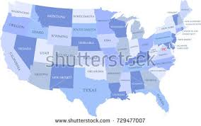 united states map with states and capitals labeled united states map vector states capital stock vector 131295020