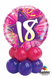 balloons for 18th birthday milestone 18th birthday pink mini