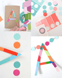 diy name garland made from paint chips and cardboard easy and
