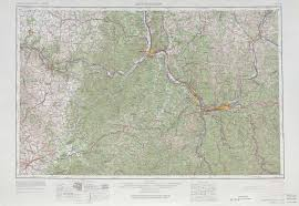 Map Of Louisville Ky Huntington Topographic Maps Ky Oh Wv Usgs Topo Quad 38082a1