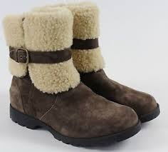 s ugg australia blayre boots mint ugg australia blayre brown sheepskin leather side zip boots