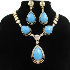 ladies necklace sets images Hot sale indian bridal jewelry sets for ladies golden plated jpg