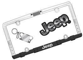 jeep wrangler logo decal chroma graphics 58001 jeep travel kit with license plate frame