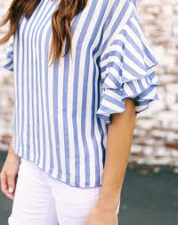 striped blouse locklyn striped blouse blue vici