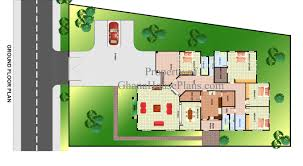 contemporary one story house plans type modern four bedroom house plans design idea ghana plan