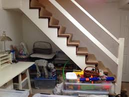 need ideas for simple sturdy shelves u0026 door under basement stairs