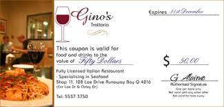discount restaurant gift cards gift certificates http ginostrattoria au