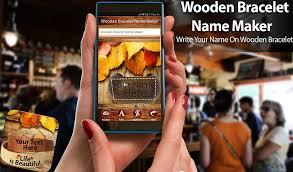 life bracelet app images Wooden bracelet name maker android apps on google play