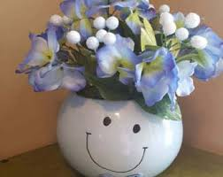 Smiley Face Vase Smiley Face Flower Etsy