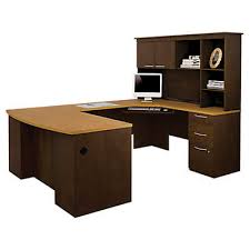 hatley u shaped desk with hutch by bestar smart furniture