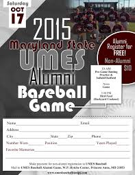 umes baseball set to host annual alumni game maryland eastern