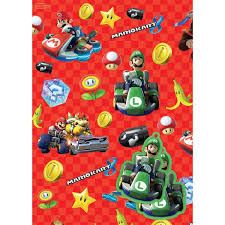 mario wrapping paper mario wrapping paper tags party supplies