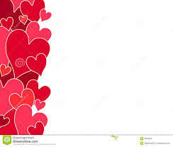 red and pink hearts border stock image image 12451341