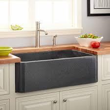 Granite Kitchen Sinks 36 Polished Granite Farmhouse Sink Blue Gray Kitchen