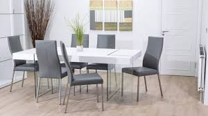 Modern White Dining Chairs Dining Room Oval Modern White Dining Table With Sweet Yellow