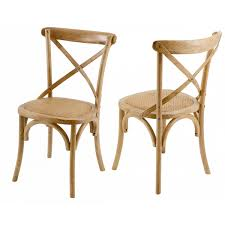 chaise bistrot chaise bistrot naturelle lot de 2 zago store