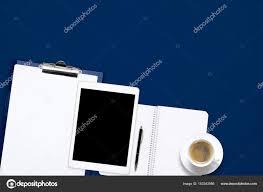 tablette de bureau tablette bureau luxe fice work desk table with laptop tablet cup of