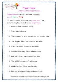 grade 3 grammar topic 7 proper nouns worksheets lets share