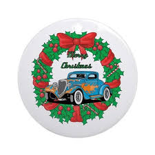 merry wreath blue rod ornament roun by gear4gearheads