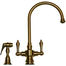 antique brass kitchen faucet whitehaus whksdlv3 8101 ab vintage iii antique brass two handle