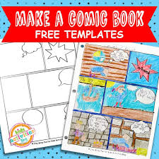 comic book comic strip template the printables library