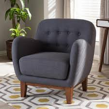 baxton studio sophia mid century dark gray fabric upholstered