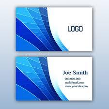 blue business card design psd file free