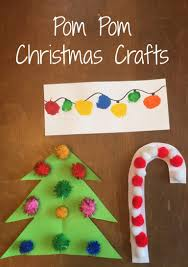 fun pom pom christmas crafts for kids crafts kid and fun