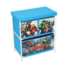 marvel avengers kids toy storage unit fabric blue 60 x 53 x 30