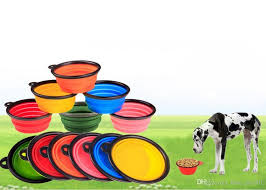 2018 Foldable Bowl Dog Collapsible Foldable Silicone Dog Bowl Candy
