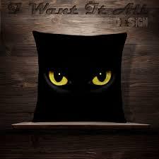 black cat pillow cat decor halloween throw pillows