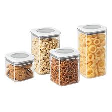 oggi kitchen canisters oggi 4 twist and store canister set bed bath beyond