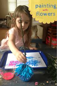 botany for kids painting with flowers