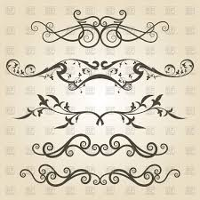 design elements from classic ornament vector clipart image 64349