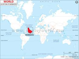 grenada location on world map where is barbados location of barbados
