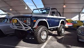 jeep bronco white mecum 2016 1977 ford bronco sport 5 0 roadster in white blue