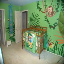 Jungle Nursery Wall Decor Baby Nursery Decor Tropical Forest With Monkey Jungle Theme Baby
