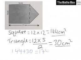 area of compound shapes practice questions and answers youtube