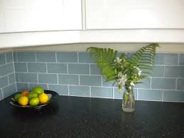X  Jasper Blue Glass Subway Tile Kitchen Backsplash - Blue glass tile backsplash