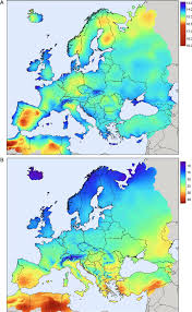 Europe Temperature Map by Estimating Average Daytime And Daily Temperature Profiles Within