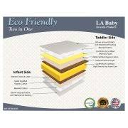 Soy Crib Mattress La Baby Eco Friendly 2 In 1 Soy Foam Crib Mattress With
