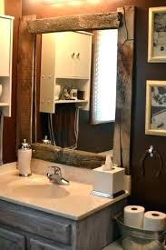 Bathroom Framed Mirror Custom Wood Framed Bathroom Mirrors Corner Oak Oval Timber Framing