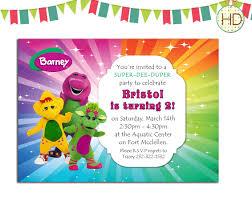 Birthday Invitation Cards For Friends Barney And Friends Birthday Invitations Invitation Ideas
