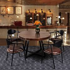 Coffe Shop Chairs Retro Fashion Wrought Iron Table And Chairs Combination Of Solid