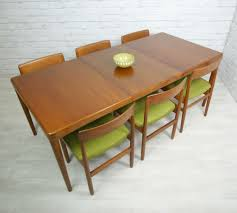 Teak Dining Room Tables Vintage Mid Century Modern Set Table And Chairs Modern