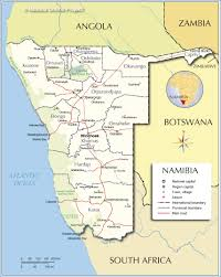 Swaziland Map Administrative Map Of Namibia Nations Online Project