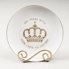 anniversary plate our of fatima anniversary plate the catholic company