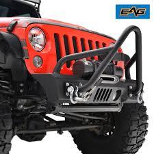 jeep stinger bumper purpose amazon com eag stubby stinger front bumper for 07 17 jeep